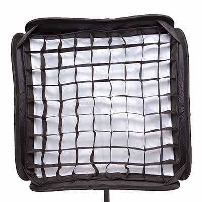 Softbox 40cm x 40cm with grid for Flashgun
