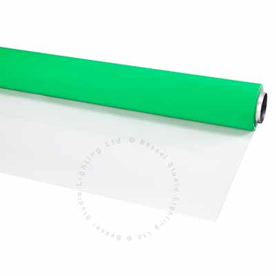 2.7m x 8m Green and White Double Sided Vinyl Background