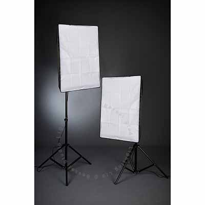1400W - 2 Head Kit (8 x 35W low energy) with 2m x 3m Black/White Vinyl & Stand