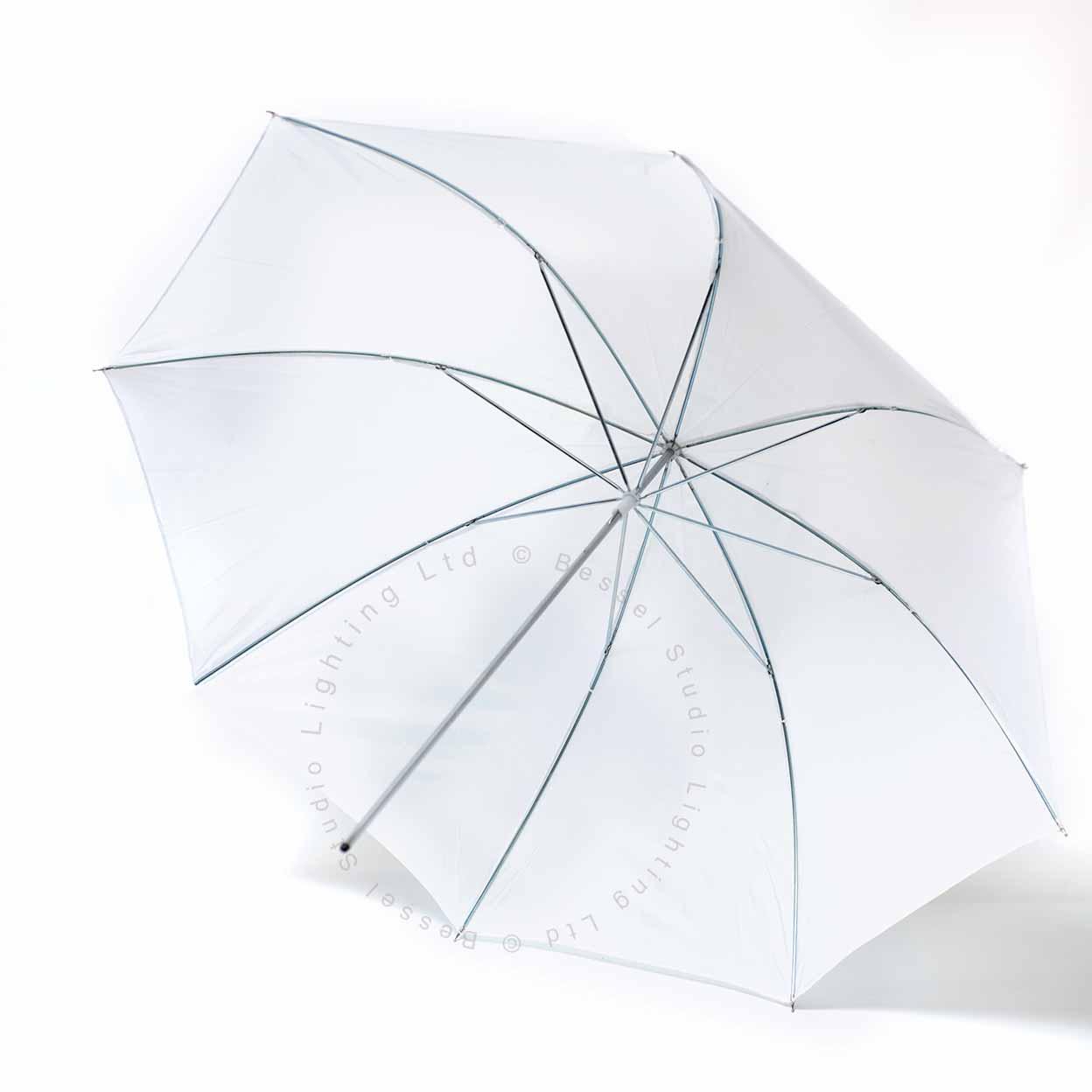 33imch White Shoot Through Umbrella 7mm stem fits Elinchrom lamps Bessel 84cm
