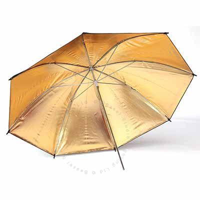 90cm Umbrella 7mm stem - Gold reflective