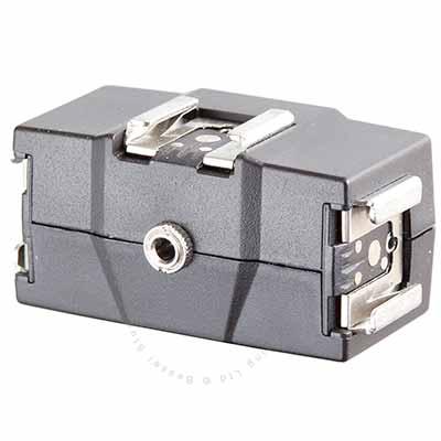 3 Way flashgun holder with sync port