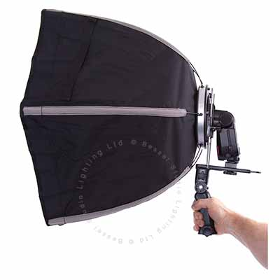 60cm Hexagonal Flashgun Softbox with Bracket