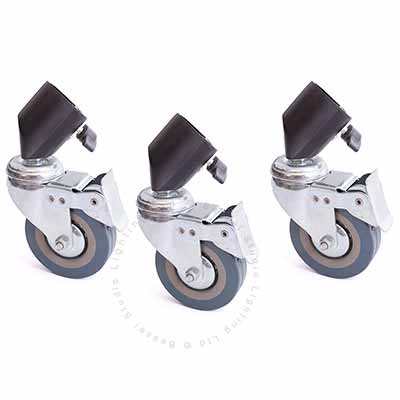 Wheel kit for lamp stands (Pack of 3)