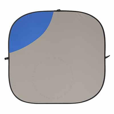 180cm x 210cm  Blue / Grey Collapsible Background