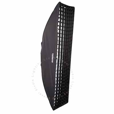 180cm x 40cm  White Softbox with 6cm grid S-Fit