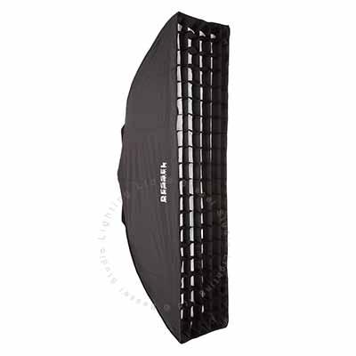 120cm x 30cm  White Softbox with 6cm grid S-Fit
