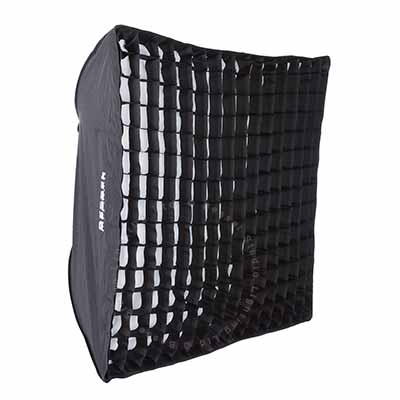 90cm x 90cm  White Softbox with 6cm grid S-Fit